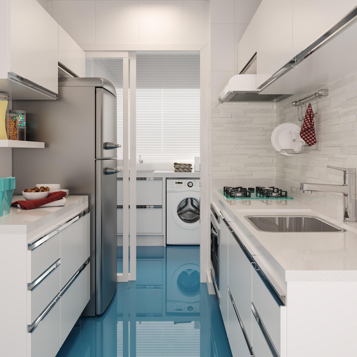 Cozinha Compacta Com Porcelanato Liquido Leroy Merlin