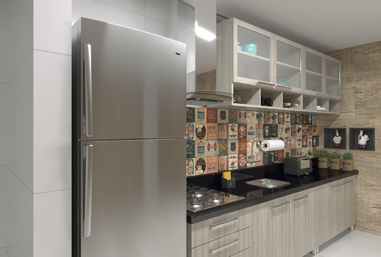 Cozinha Compacta Com Revestimento De Parede Leroy Merlin