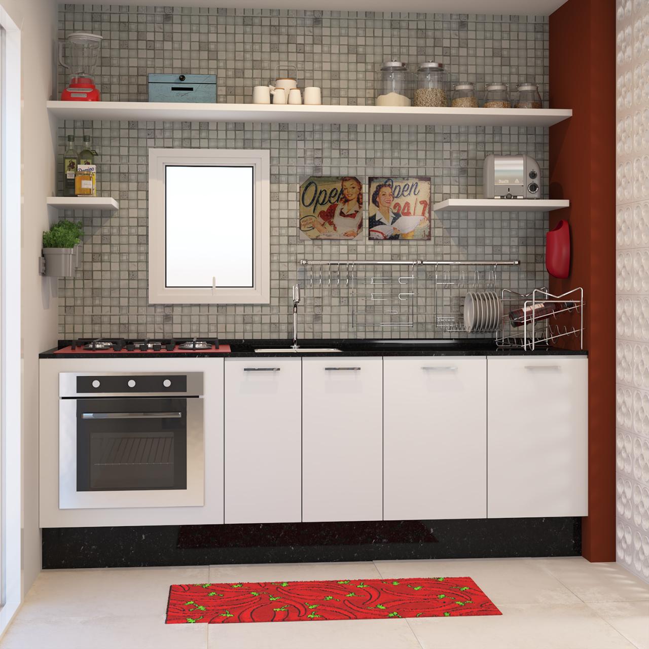 Cozinha Compacta Decorada Com Pastilhas Leroy Merlin ~ Cozinha Decorada Com Pastilhas