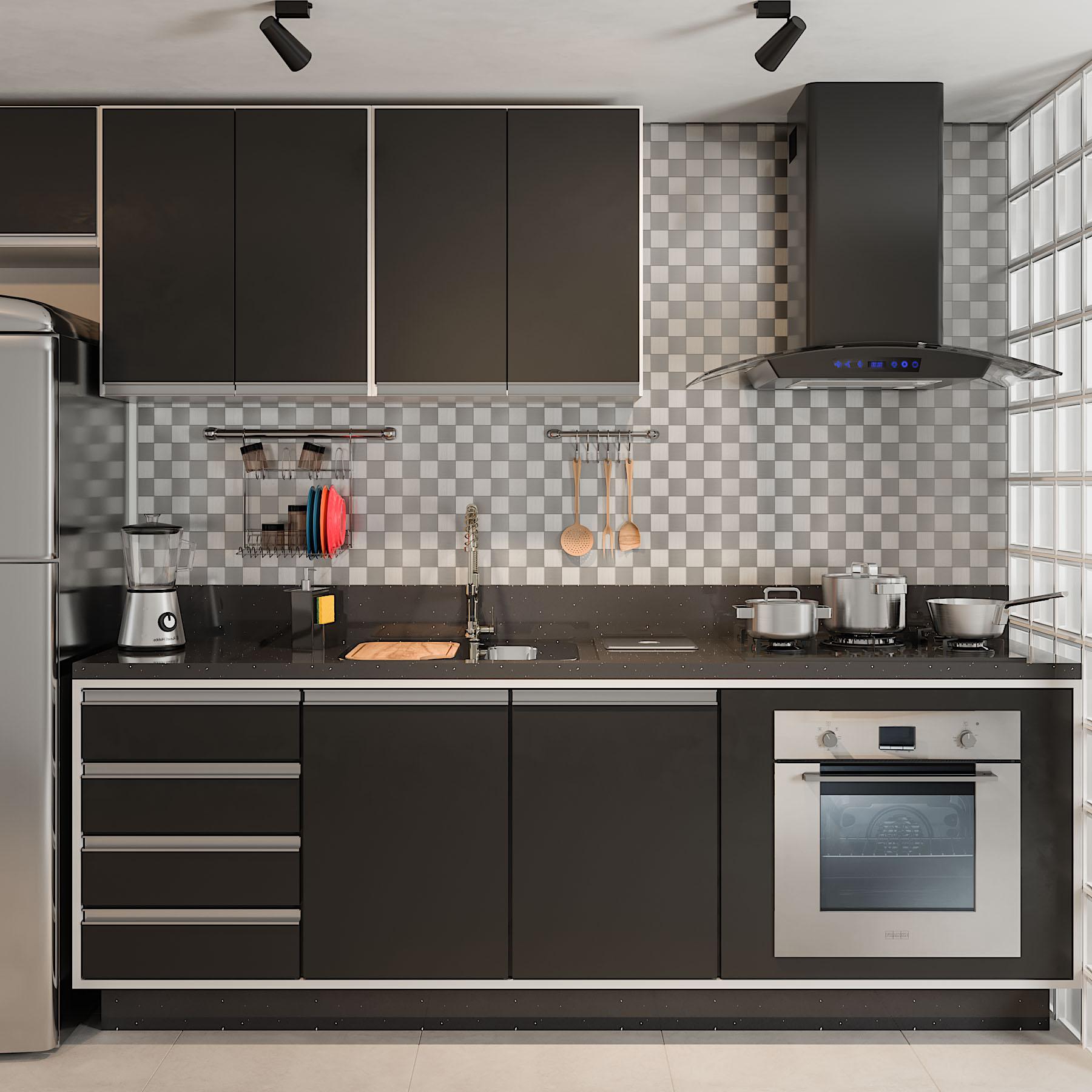 Image of: Cozinha Pequena Com Pastilha Adesiva Leroy Merlin