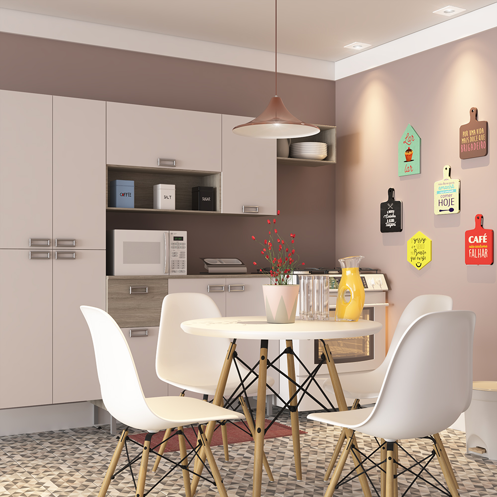 Cozinha pequena simples com quadros tem ticos leroy merlin for Decoracion de interiores cocinas pequenas
