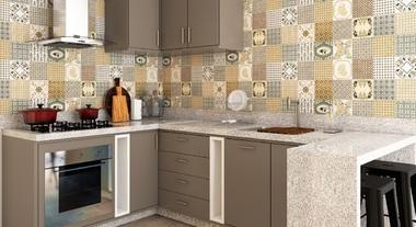 Cozinha planejada cinza decorada