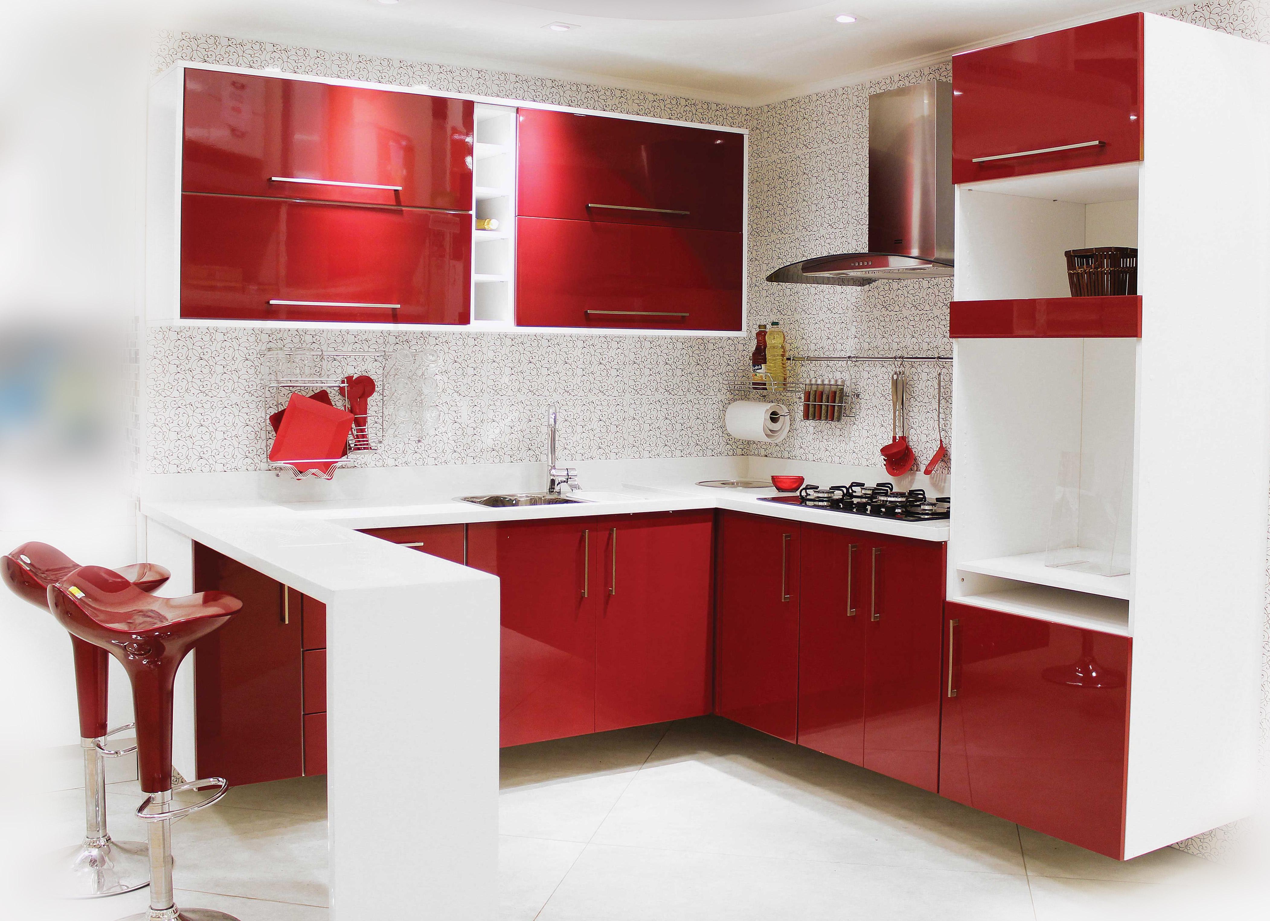 Fotos De Cozinhas Inspire Se Leroy Merlin ~ Cozinha Cinza Com Vermelho