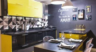 Cozinha Planejada: linha Paris da marca exclusiva Delínia