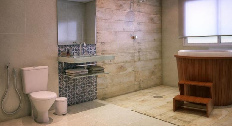 Decoração de banheiro com ôfuro