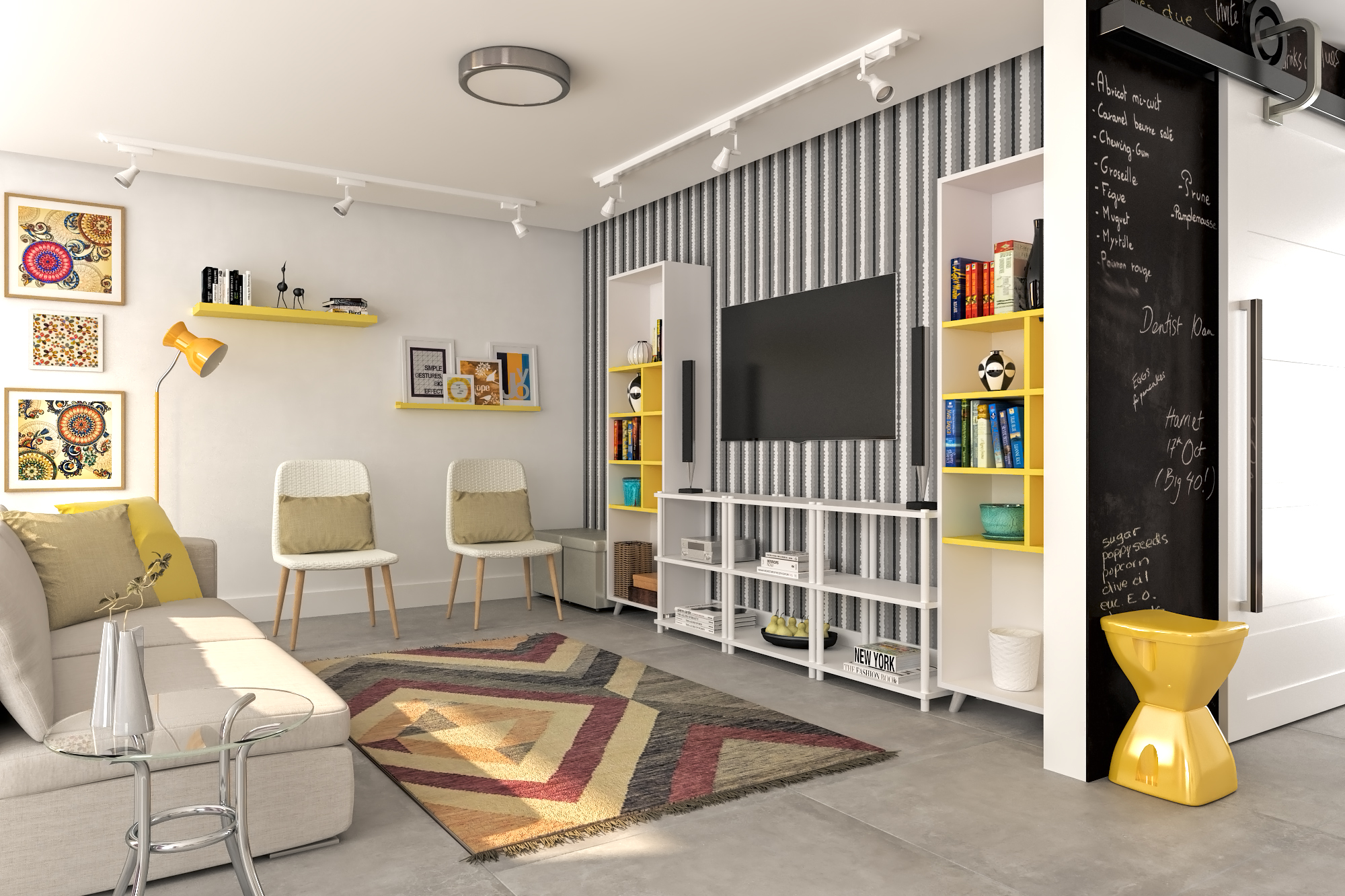 Decora o de sala pequena leroy merlin for Salas modernas pequenas para apartamentos
