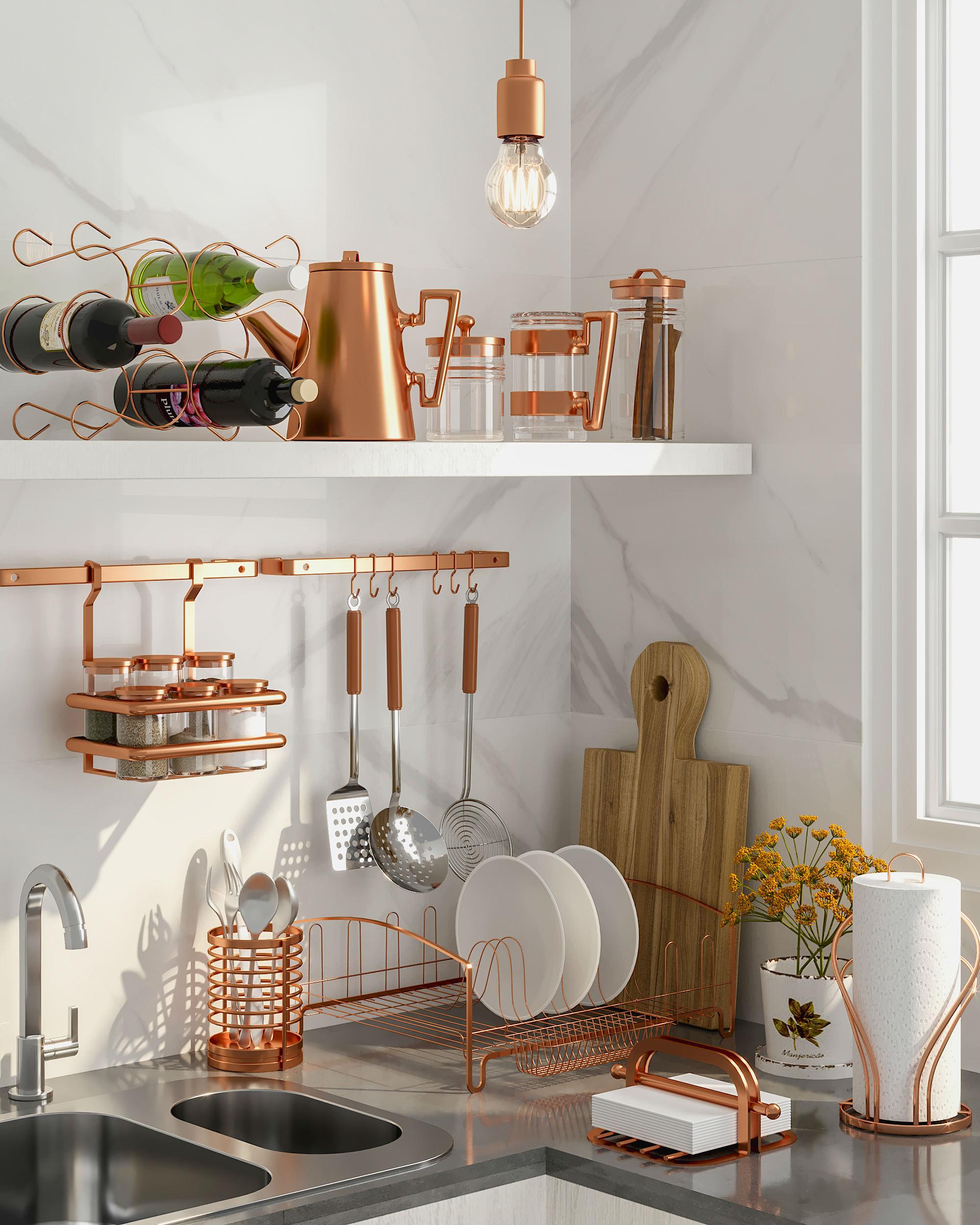 Decora o rose gold como usar o cobre do momento for Utensilios de cocina tumblr