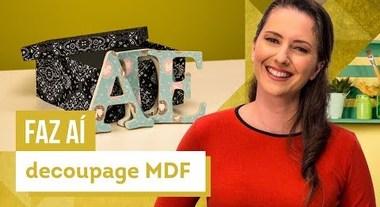 Decoupage em MDF