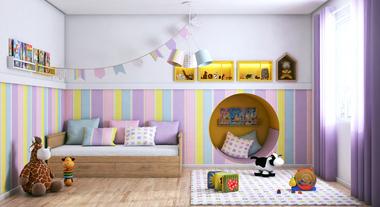 Escolha o piso certo para o quarto infantil