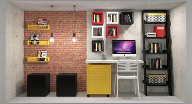 Escritório moderno e decorado