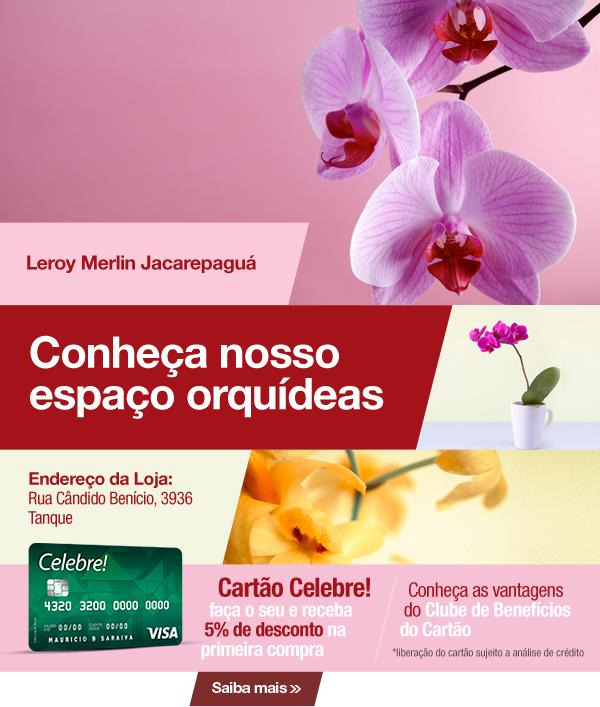 Espaço orquídeas na Loja de Jacarepaguá