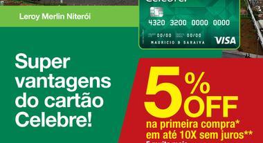 Especial Celebre!: 5% de desconto na Loja de Niterói
