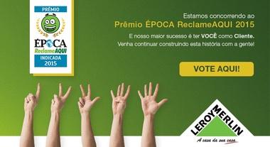 Estamos concorrendo ao Prêmio ÉPOCA Reclame AQUI 2015