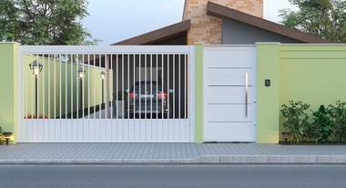 Fachada de casa com portão