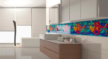 Inove na decoração do banheiro dos pequenos com os revestimentos