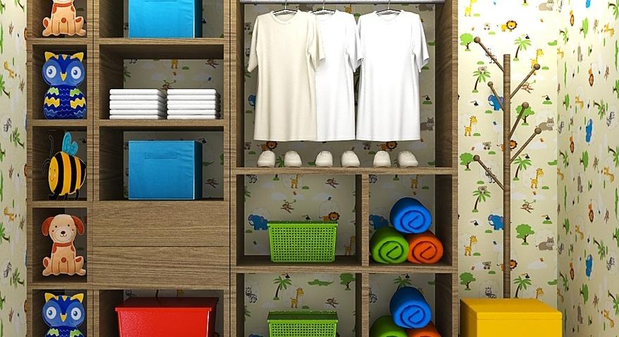 Closet infantil com mancebo