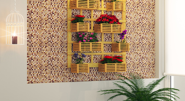 Jardim vertical dentro de casa
