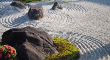 Jardim zen, um local de tranquilidade