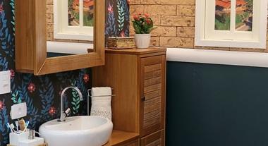 Banheiros pequenos fotos dicas e projetos leroy merlin for Lavabo pequeno leroy merlin