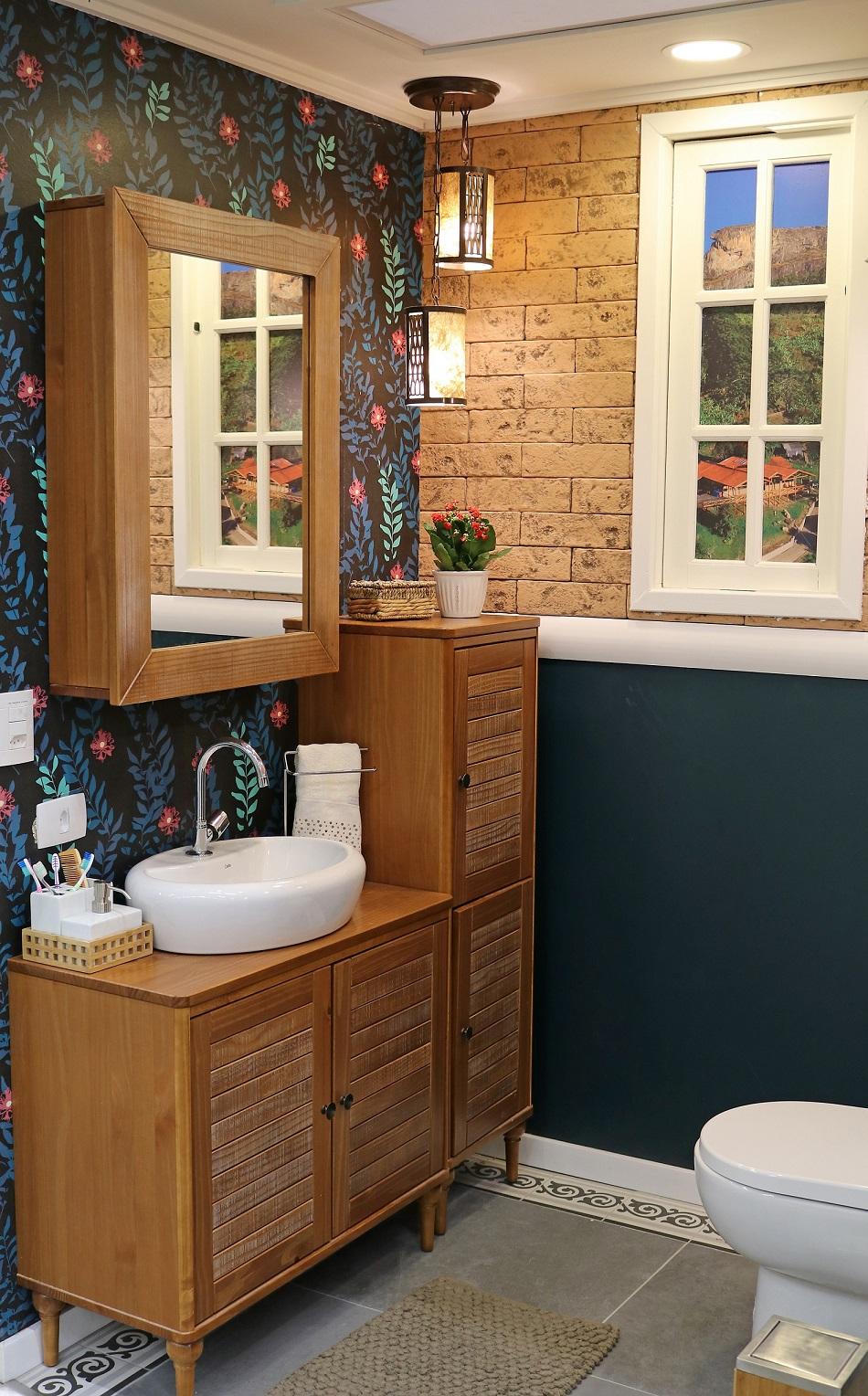 lavabo pequeno com decora o greenery leroy merlin
