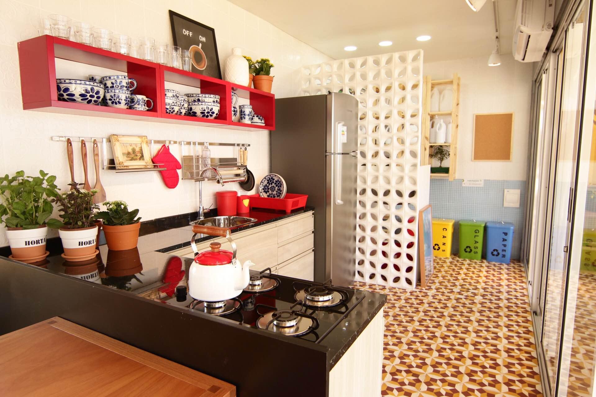Casa Viva Leroy Merlin: cozinha com área de serviço inspirados em Minas Gerais