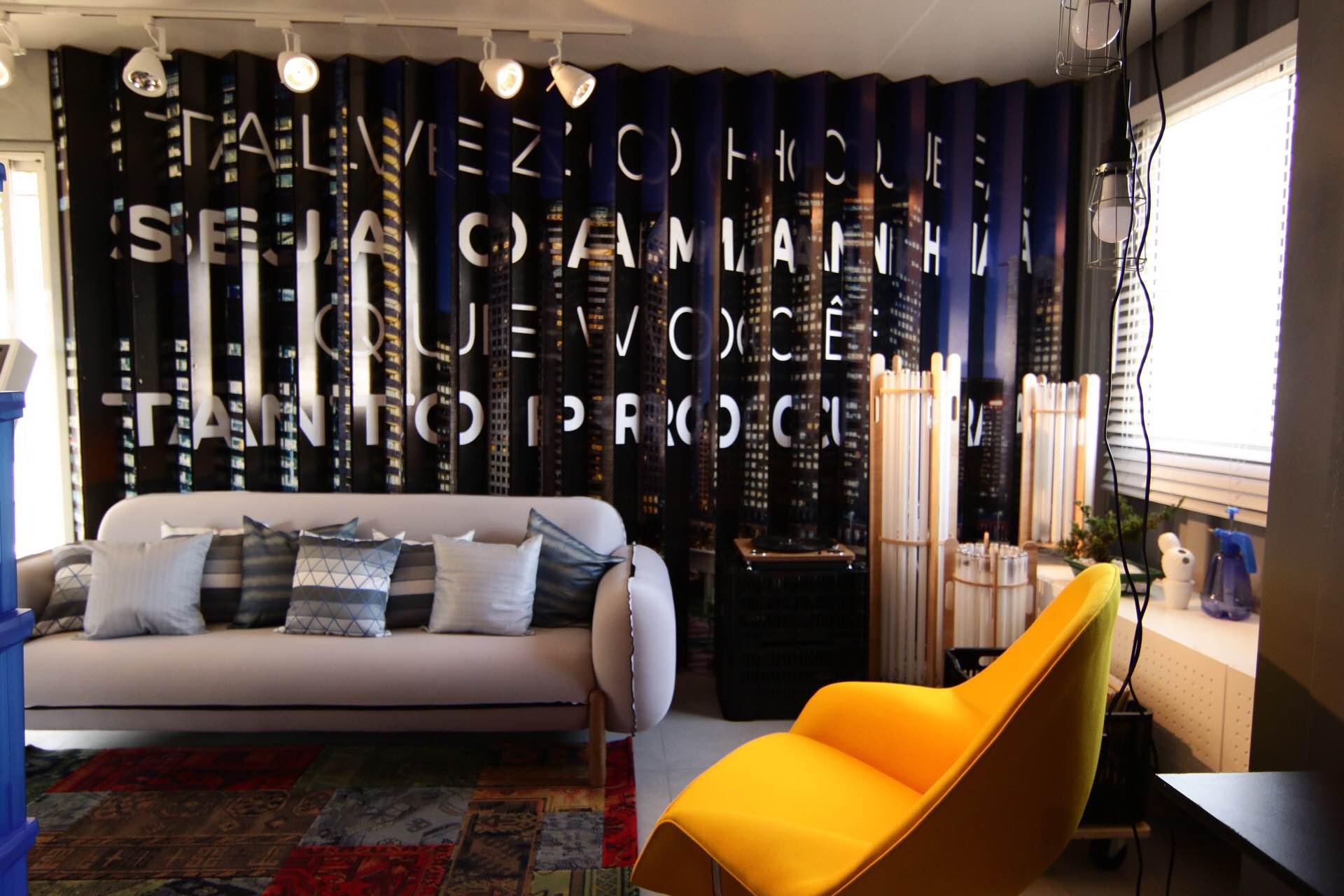 Casa Viva Leroy Merlin: sala de estar inspirada em São Paulo
