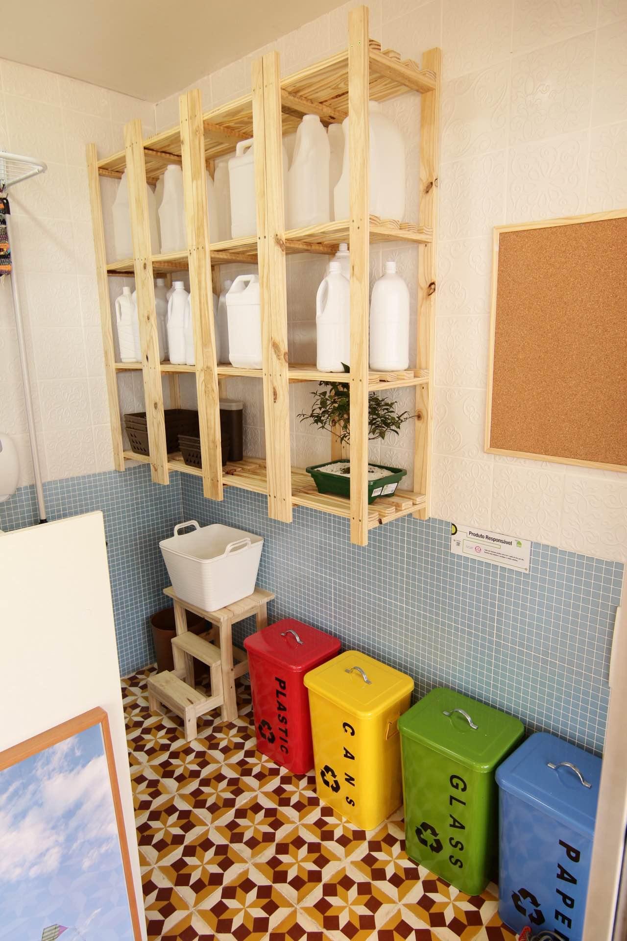 Casa Viva Leroy Merlin: área de serviço inspirado em Minas Gerais
