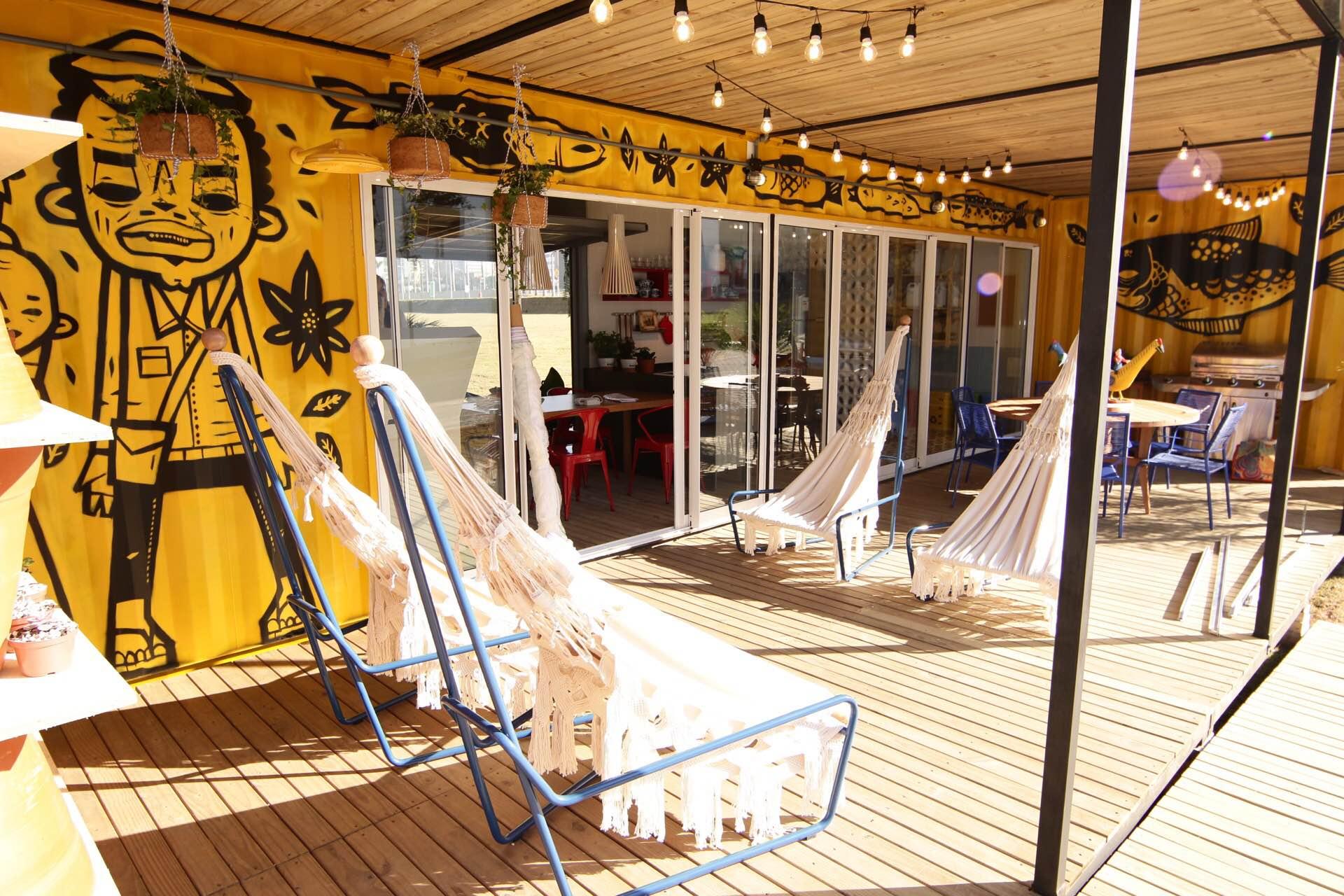 Casa Viva Leroy Merlin: varanda inspirada no Nordeste