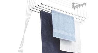 Mantenha a máxima organização na lavanderia com o varal de parede