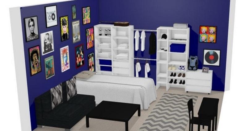 Monte seu projeto em 3d cozinha e closet leroy merlin for Simulador de casas 3d gratis