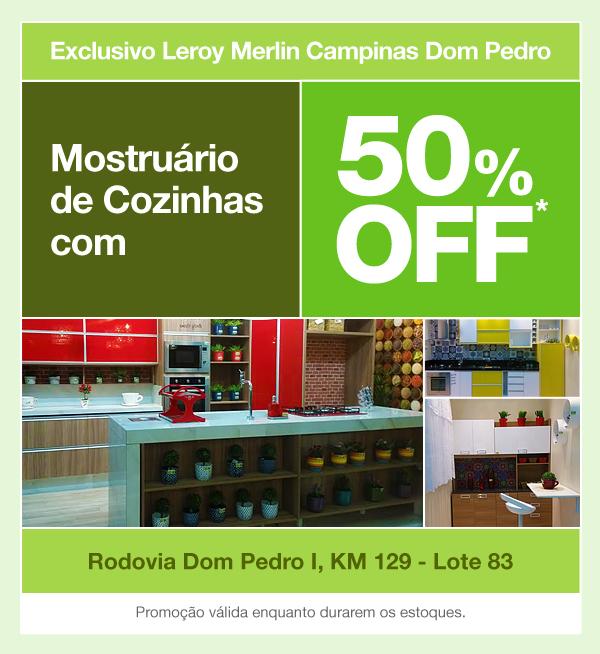 Mostruário de Cozinhas com 50% OFF - Exclusivo Campinas Dom Pedro