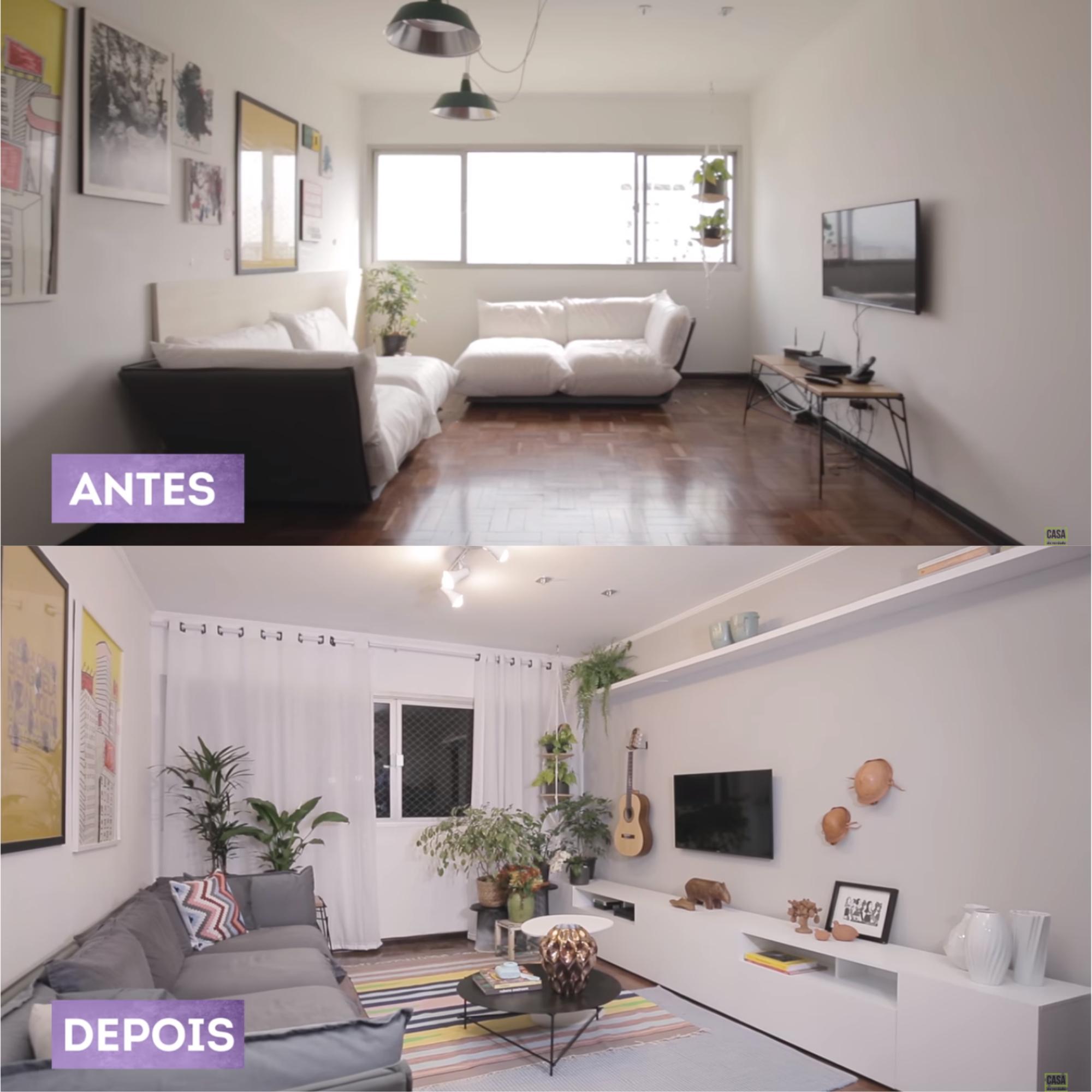 Antes e depois de 20 ambientes transformados pela leroy merlin for Tappeti sala leroy merlin