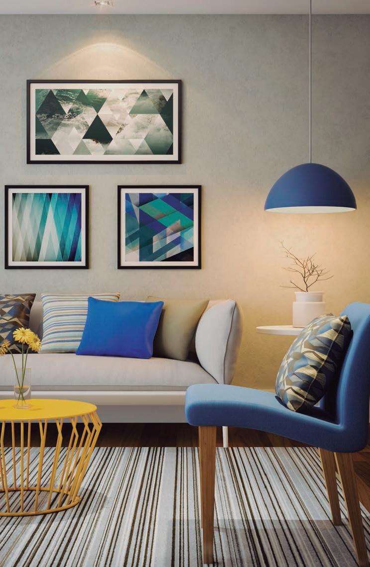 O poder do azul na sala de estar leroy merlin for Tappeti sala leroy merlin