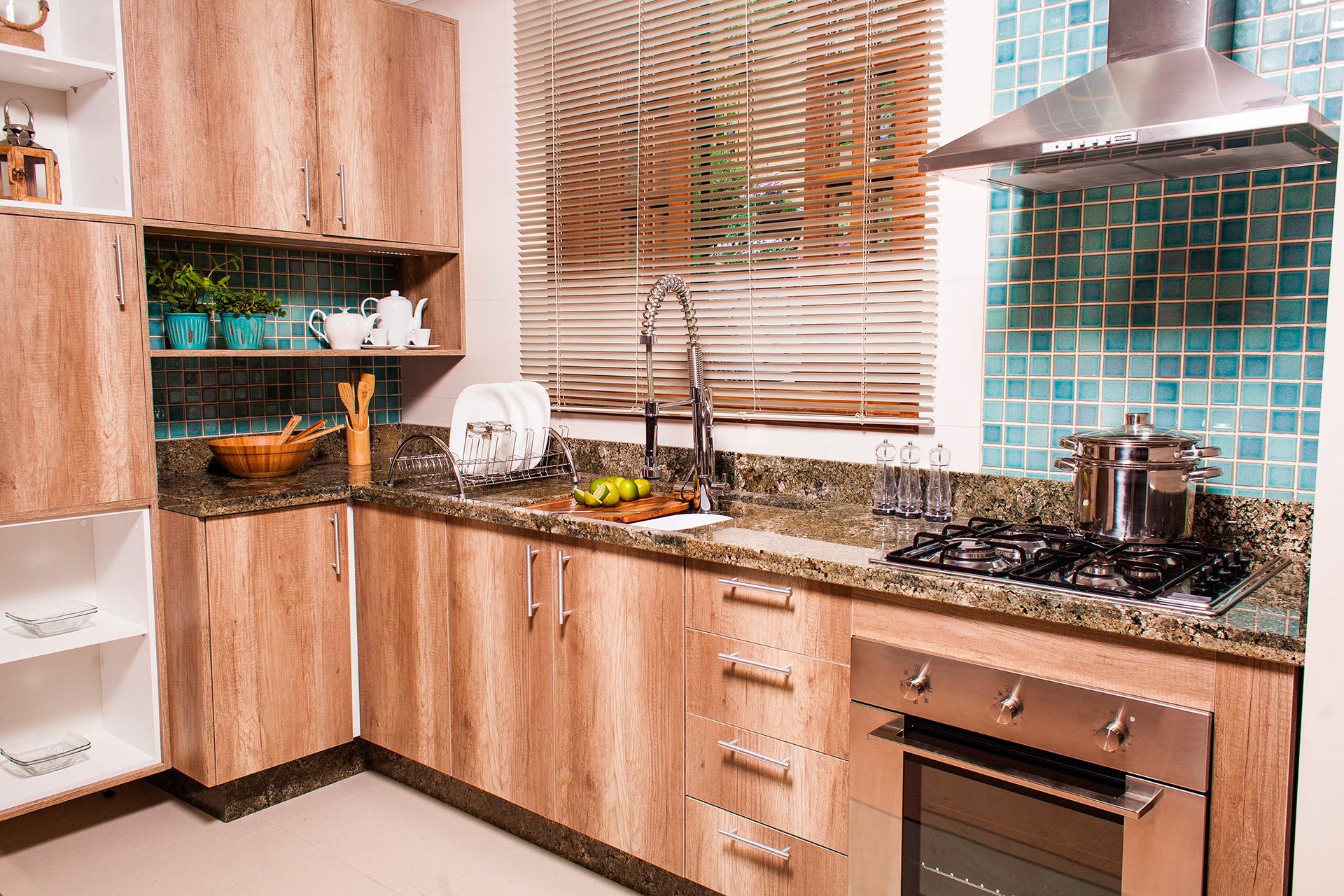 Que N O Pode Faltar Em Uma Cozinha Planejada Para Apartamento  ~ Cozinha Americana Em Madeira