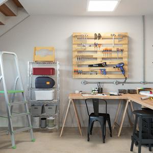 Oficina e garagem integrados leroy merlin for Leroy merlin oficinas centrales