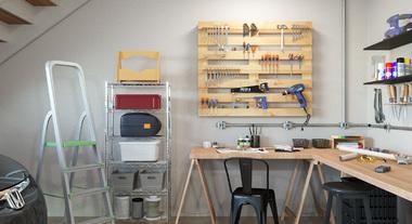 Oficina e garagem integrados