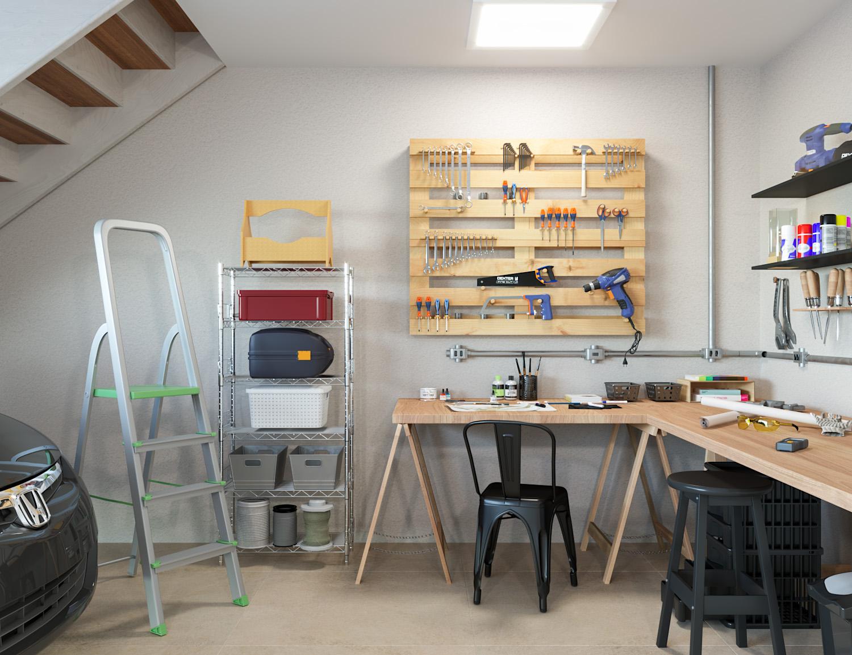 oficina e garagem integrados leroy merlin