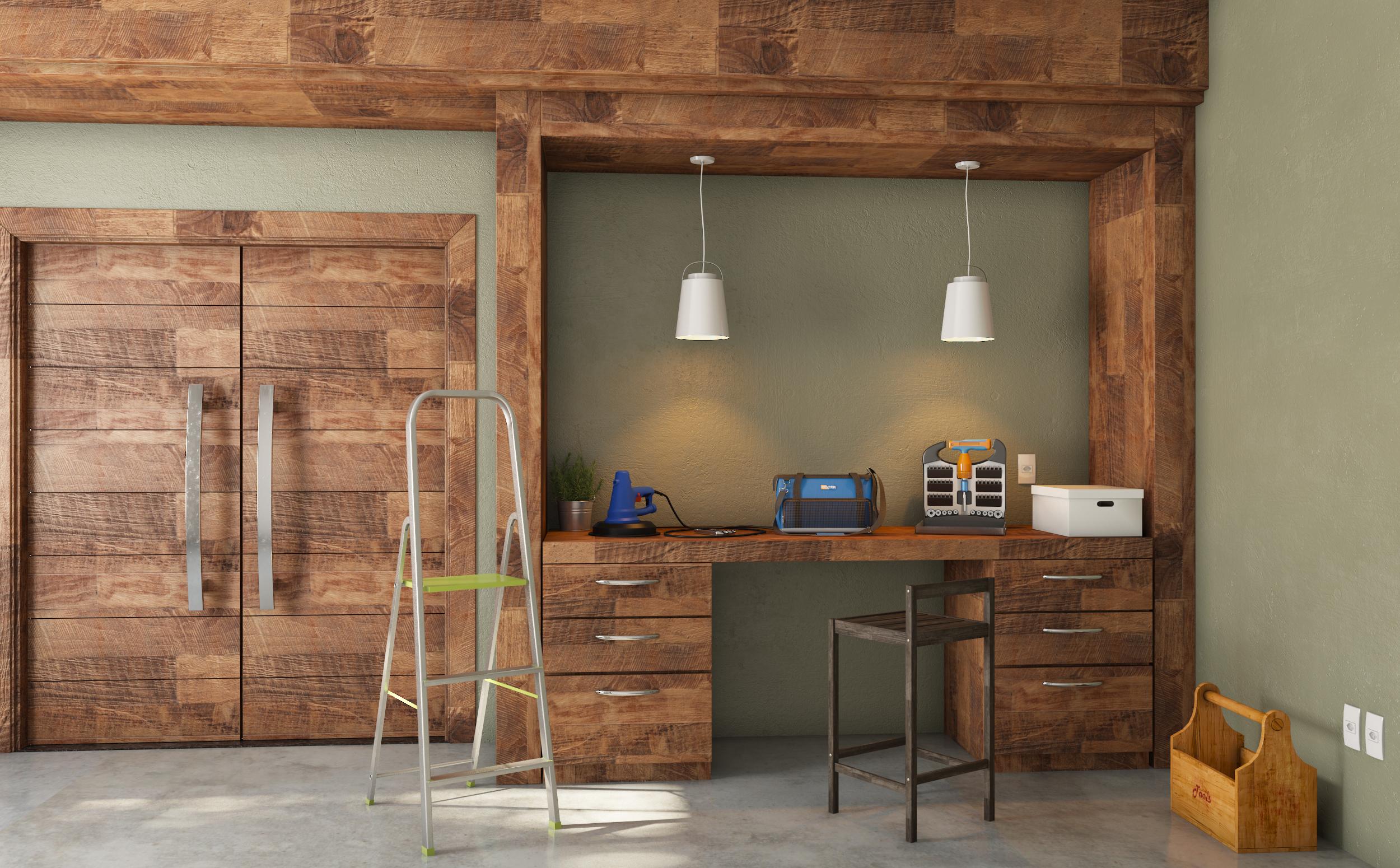 Oficina grande com detalhe amadeirado leroy merlin for Leroy merlin oficinas