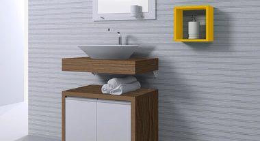 Organize seu banheiro com armários modulares