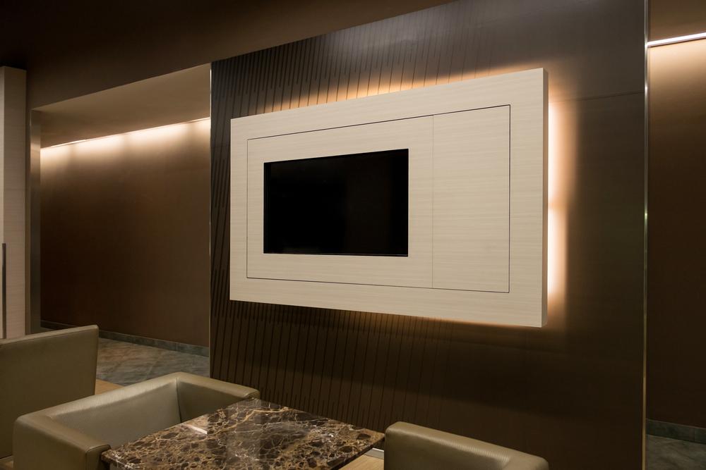 Painel de TV com rack  veja como combinar essa dupla em fotos de inspiração f071960c08977
