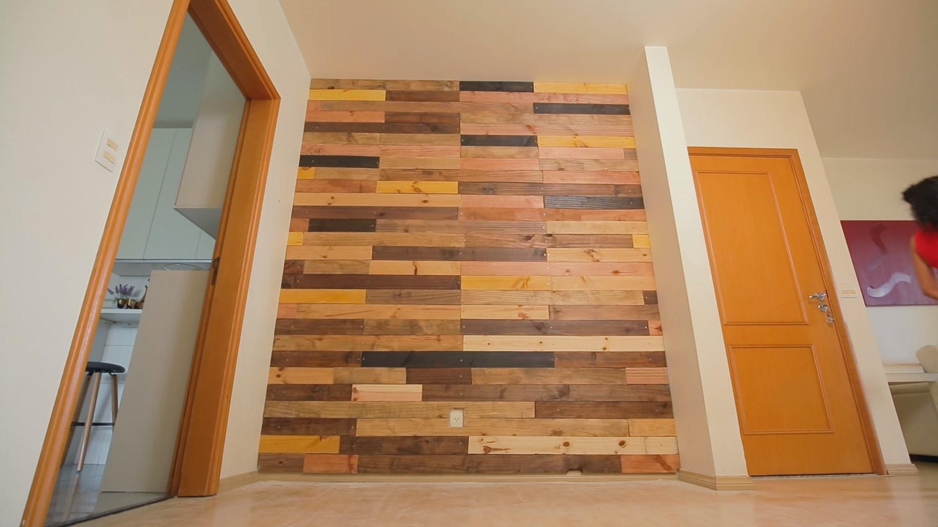 Parede De Madeira Como Fazer Passo A Passo Uma Plank Wall -> Foto De Parede De Madeira