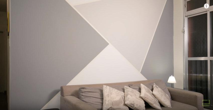 Aprenda a pintar formas geom tricas na parede - Formas de pintar paredes interiores ...