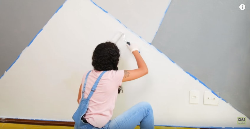Aprenda a pintar formas geom tricas na parede - Cabeceras pintadas en la pared ...