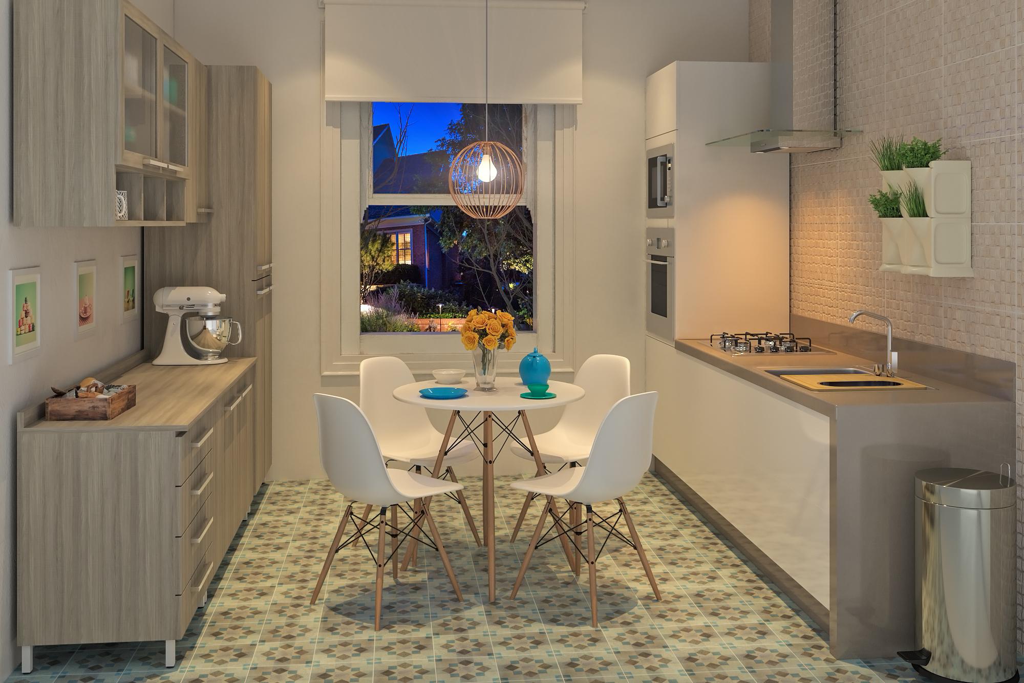 Piso decorado da sala cozinha ideia em madeira e porcelanato - Fotos de pisos decorados ...