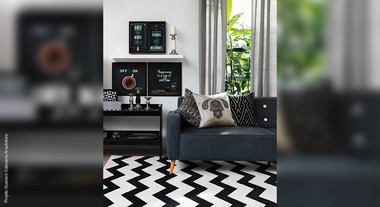Preto e branco são cores infalíveis para a decoração