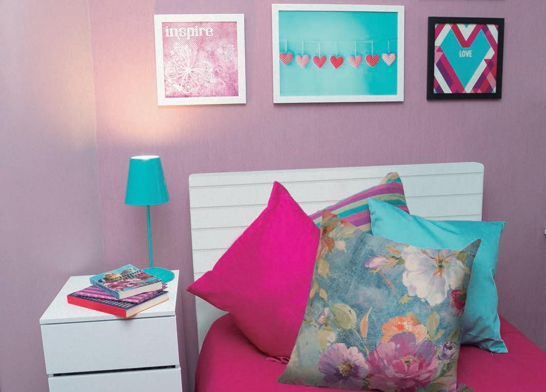 Quarto De Solteiro Com Decora O Rosa Leroy Merlin ~ Grafite Parede Quarto Com Quarto Moderno Solteiro