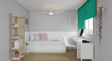 Resultado de imagem para dormitorio de solteiro estudante
