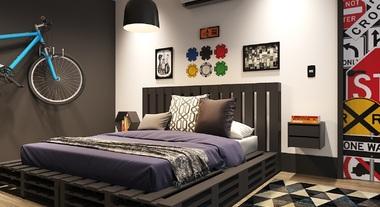Resultado de imagem para Lustre preto para quarto masculino