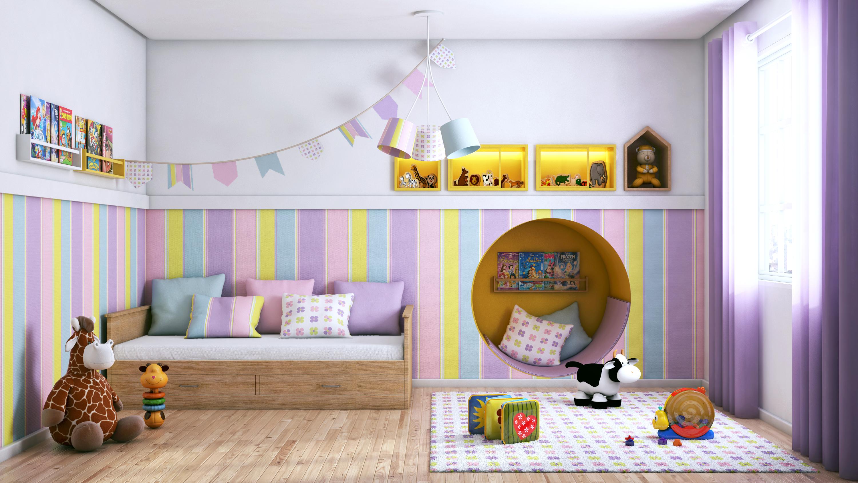 Artesanato X Manufatura ~ Quarto infantil com tons delicados Leroy Merlin