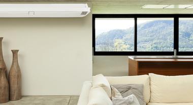 Refrigeração uniforme com ar condicionado piso teto